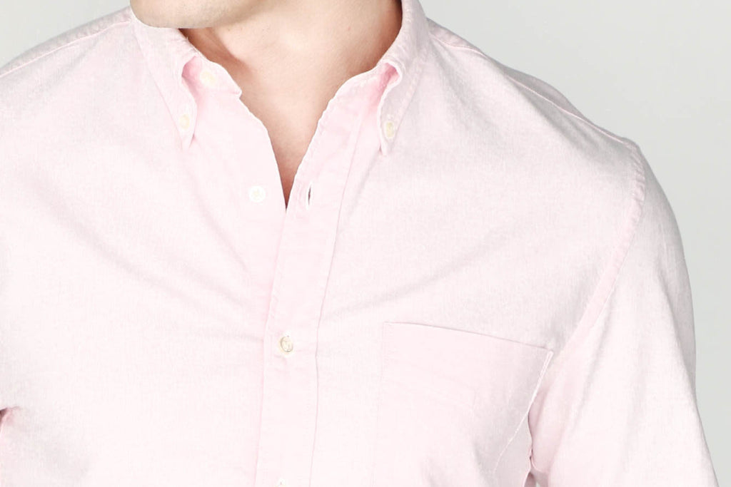 M's Lightweight Oxford Shirt (Pink)