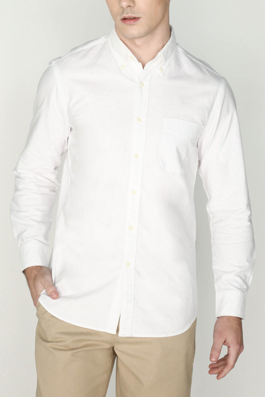 M's Lightweight Oxford Shirt (White)
