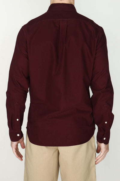 M's Lightweight Oxford Shirt (Wine)