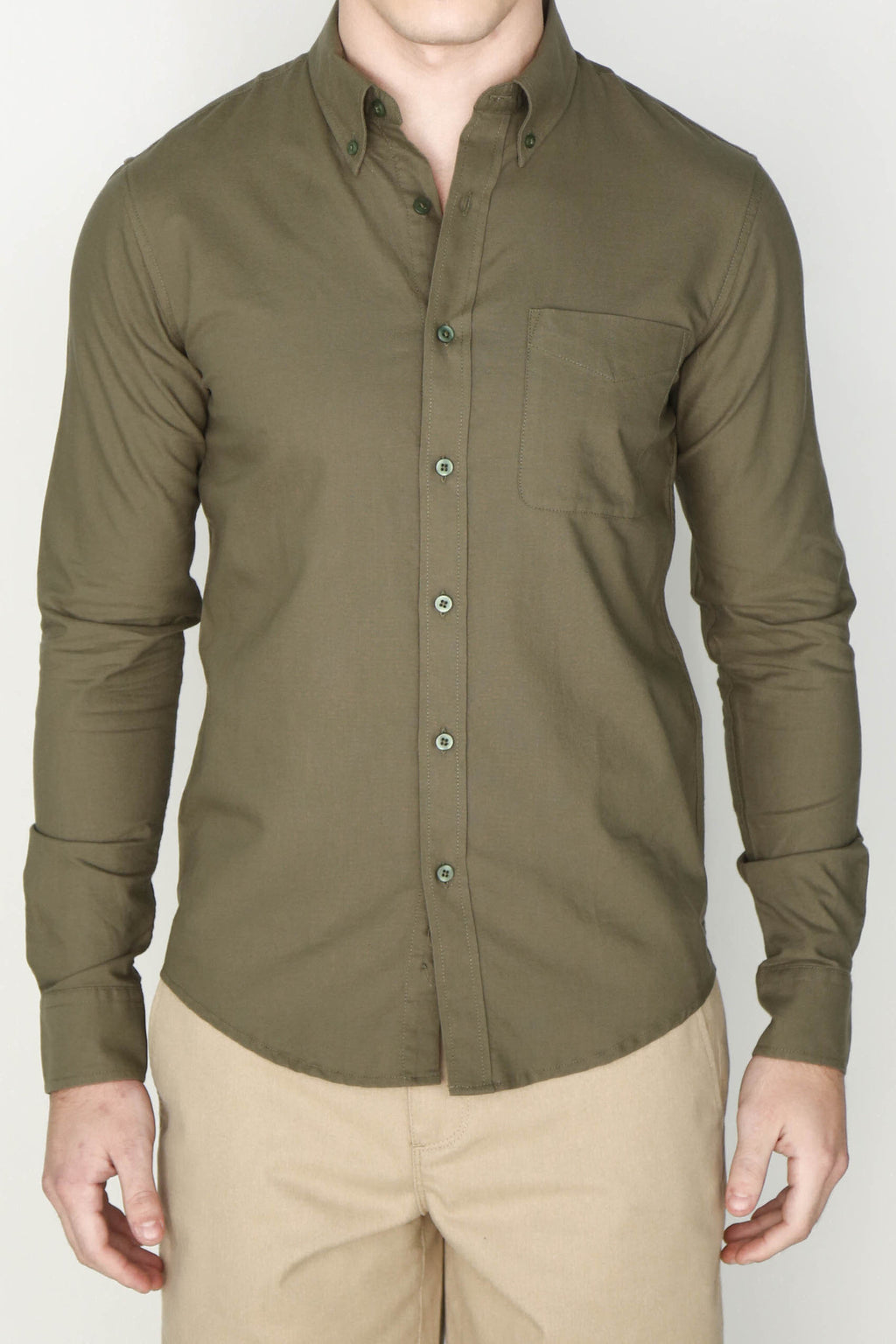 M's Lightweight Oxford Shirt (Olive)