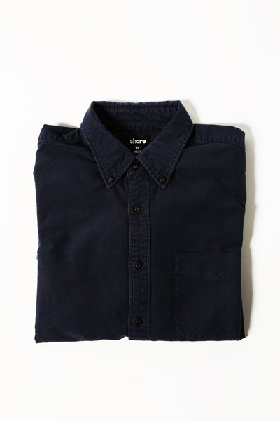 M's Lightweight Oxford Shirt (Navy)