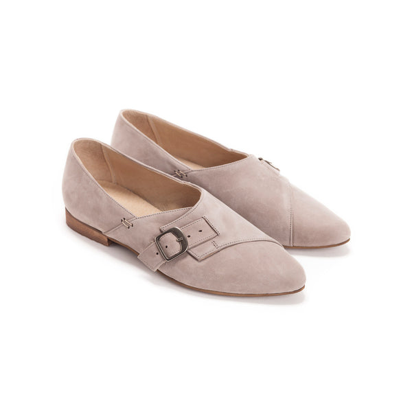 Grey Buckle Shoes - Alice