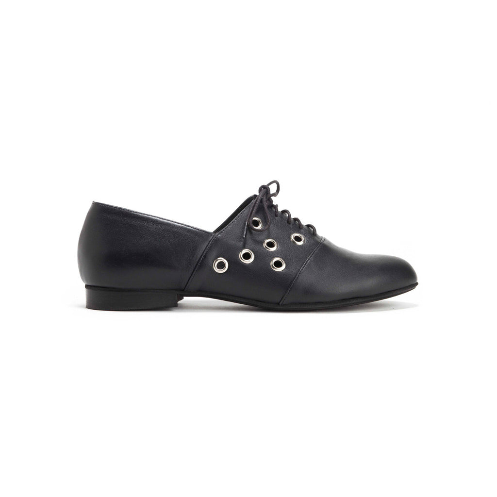 Black Lace Up Shoes - Billy
