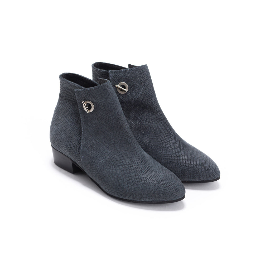 Grey Snake Ankle Boots - Charlie