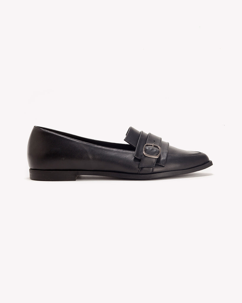 Clair - Classic Black Loafers