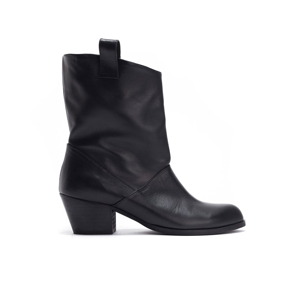 Dallas - Leather Cowboy Ankle Boots