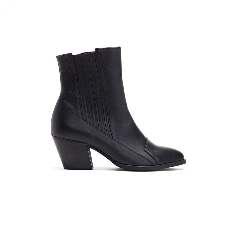 Black Heeled Boots - Dolly