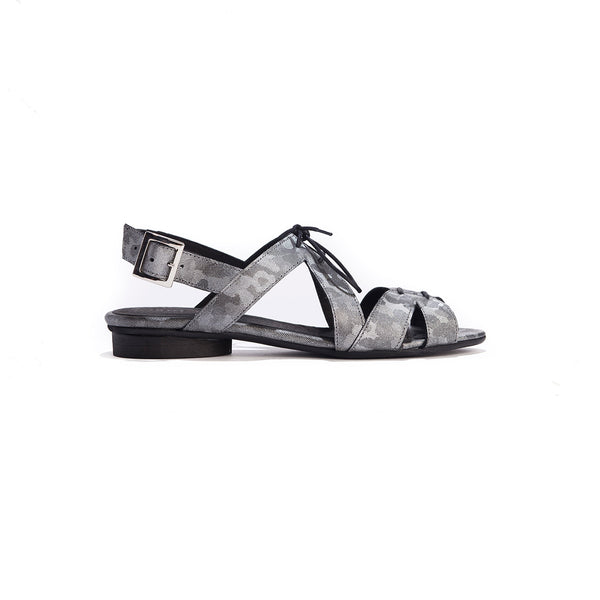 Fay - Silver Tie-Up Sandals