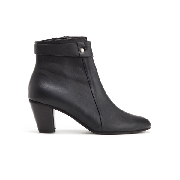 Classic Black Heeled Booties - Harper