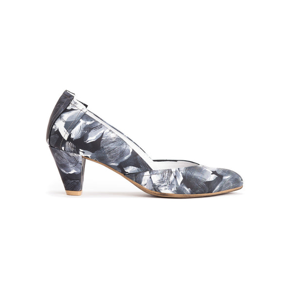 Printed Leather Pumps - Juliette