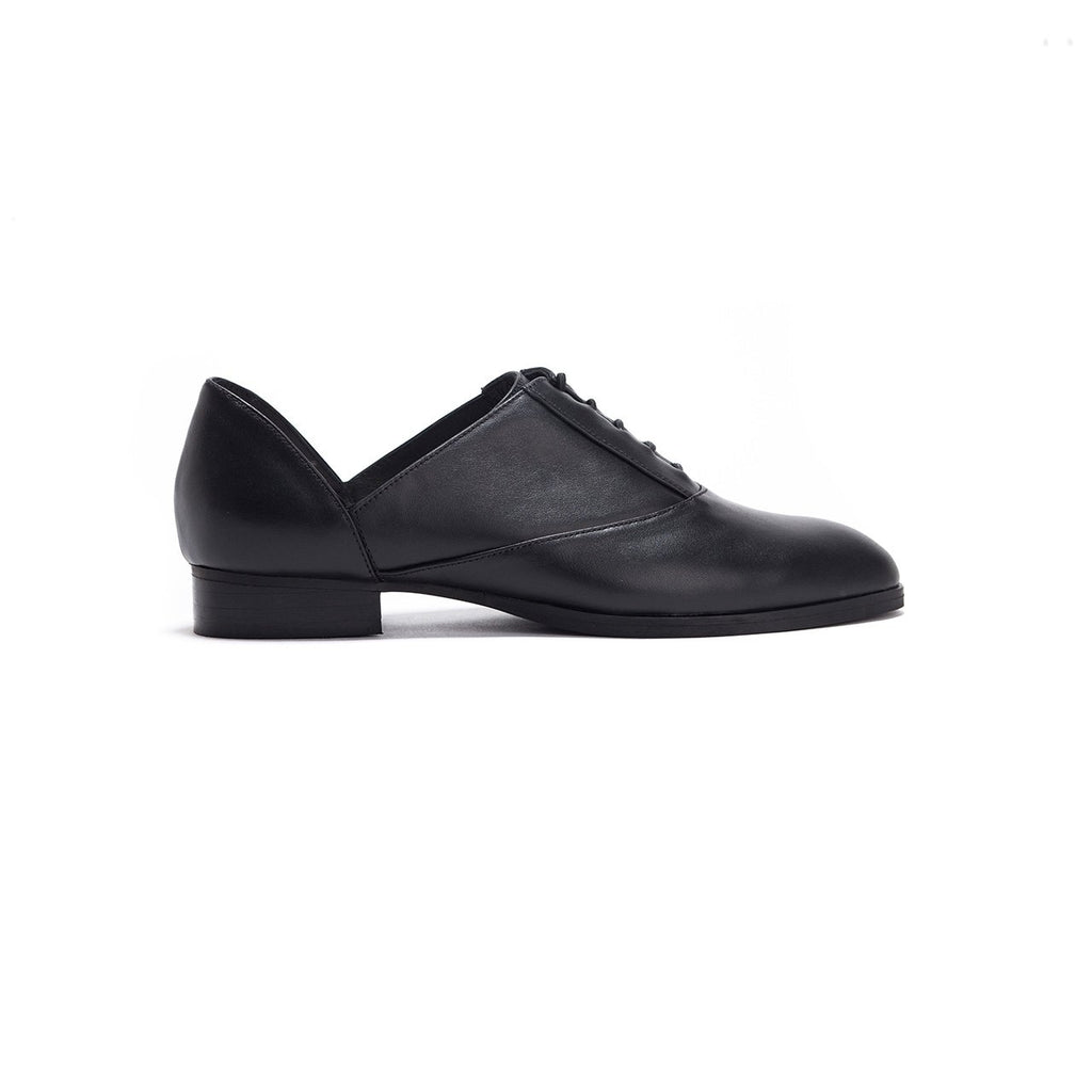 Juno - Black Leather Oxford