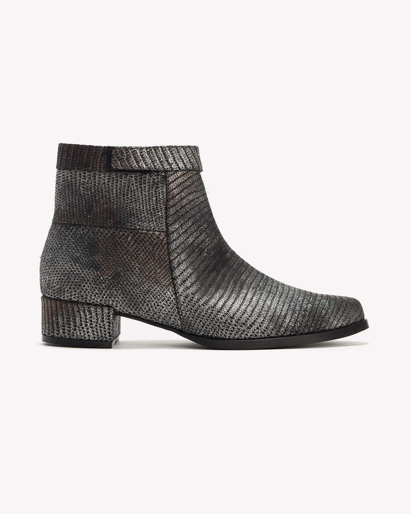 Mila - Leather Ankle Boots - Olive Thomas