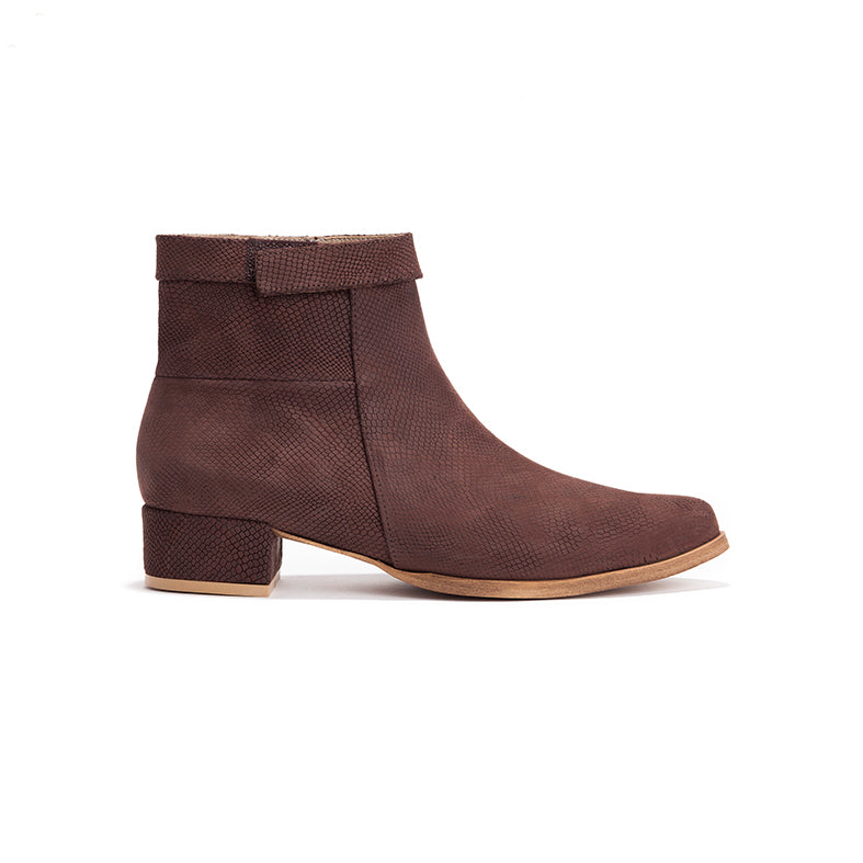 Brown Ankle Boots - Mila