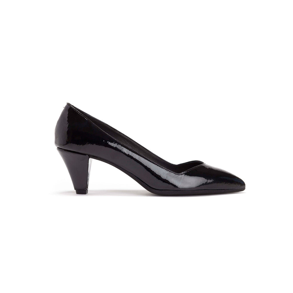 Black Pointed Toe Pumps - Piper