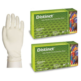 200 EXTRA LARGE White 5.5 mil Latex Gloves (Aurelia Distinct) (2 Boxes of 100)