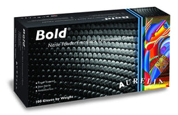 Aurelia Bold - Black Nitrile Gloves (100 Gloves/Box)