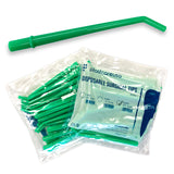 "250 x Large Green 1/4"" Dental Surgical Aspirator Aspirating Suction Tips (10 Bags)"