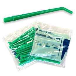 "100 x Large Green 1/4"" Surgical Aspirator Tips (4 Bags) by PlastCare USA"