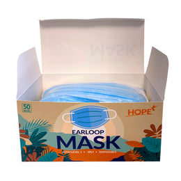 HOPE ASTM Level 1 Blue Surgical Earloop Face Mask (Box of 50)