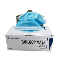 50 3-Ply Ear Loop Face Masks (Box of 50) (3 Colors)
