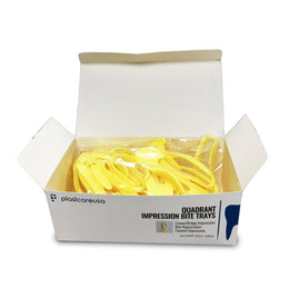 35 Yellow Quadrant Bite Registration Impression Trays (Box of 35)