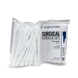 "Surgical Aspirator Suction Tips, White - 1/8"" Diameter"