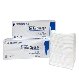 1000 3x3 4-Ply Non Woven Sponge Gauze by PlastCare USA