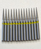 25 Diamond Burs Needle 858-014XF Extra FINE Grit