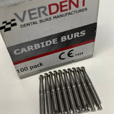 10 x RA #8 Round Carbide Burs, 22mm (Latch, Low Speed)