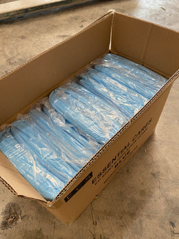 10 Blue PP Disposable Isolation Gowns with Knitt Cuffs