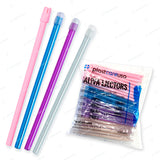 100 x Assorted Rainbow Saliva Ejectors (1 Bag) by PlastCare USA