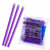 100 x Purple Clear Saliva Ejectors (1 Bag) by PlastCare USA