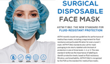 ASTM Level 1 Blue Surgical Earloop Face Mask By PlastCare USA (Box of 50)