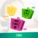 5 x Bite Block Autoclavable Silicone Mouth Props (Large - Purple)