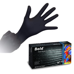 200 x Black Nitrile Gloves, 5 Mil Thick, Aurelia Bold (2 Boxes)