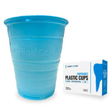 1000 Blue Plastic Disposable Ribbed Drinking Dental Cups, 5 Oz by PlastCare USA