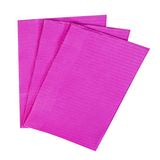 500 Fuchsia 3-Ply 13x18 Dental Patient Towel Bibs (Case of 500) by PlastCare USA