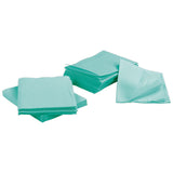 2000 Green 3-Ply 13x18 Dental Patient Towel Bibs (4 Case of 500) by PlastCare USA
