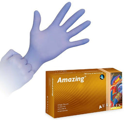 600 x Violet Finger Textured Nitrile Powder Free Exam Gloves (Aurelia Amazing) (2 Boxes)