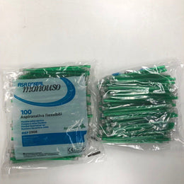 100 Mint Green Saliva Ejectors - (Bag of 100)
