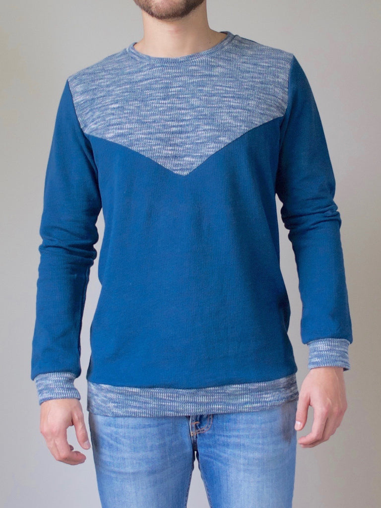 Mens Crew Sweater (Ocean Blue)