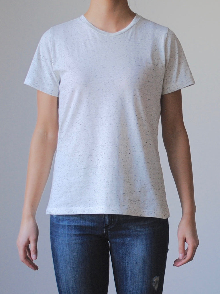 Womens Crew Neck Tee - Neppy White