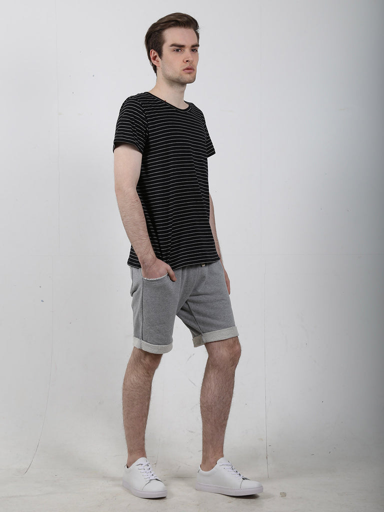 Men's Black Stripe Tee