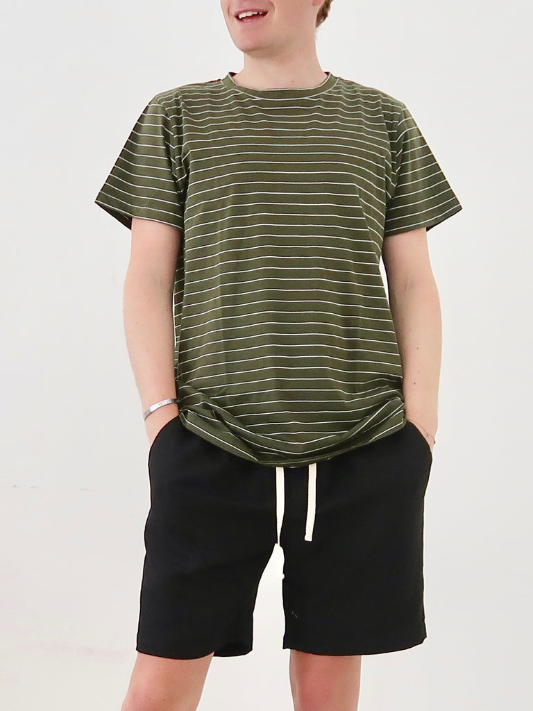 Men's Classic T-shirt (Olive Stripe)