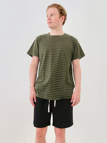 Men's Linen Resort Shirt (Green)
