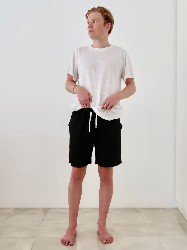 Men's Linen Shorts (Black)