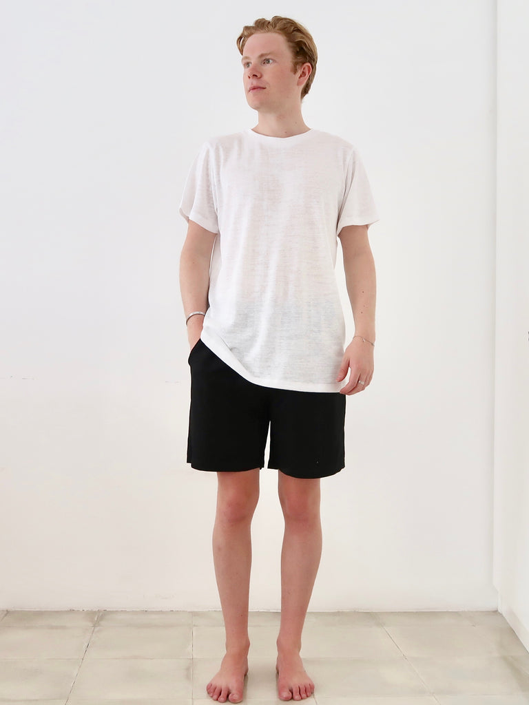 Men's Linen T-shirt (White)