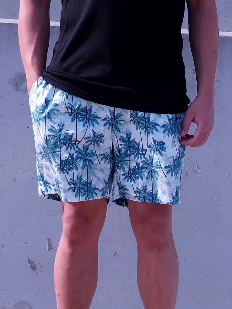 Men's Shorts - Cotton Resort Print