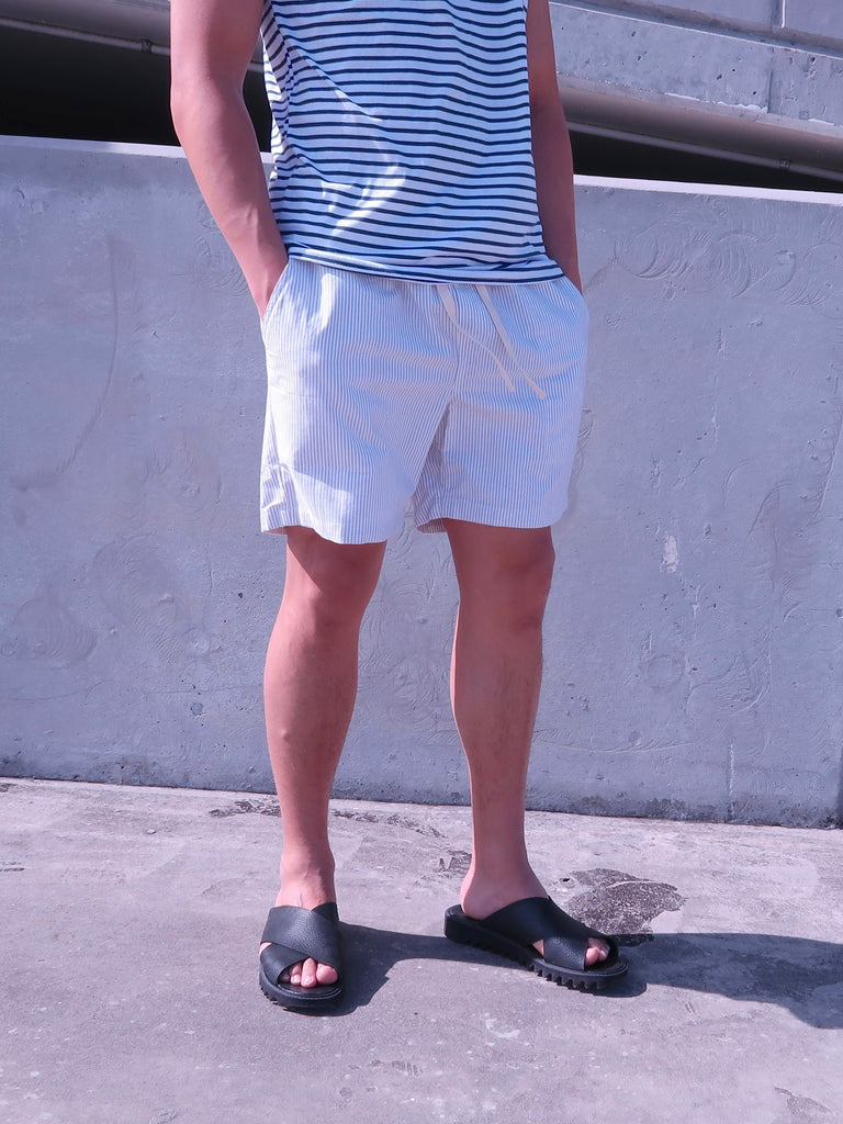 Men's Shorts - Linen Stripe