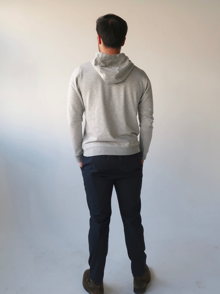 Men's Classic Terry Hoodie (Grey)
